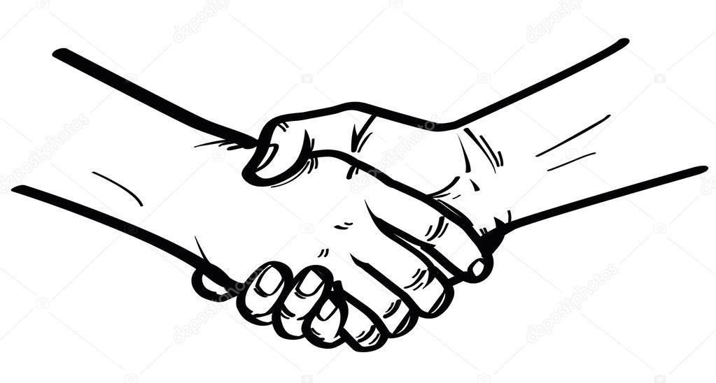 illustration of shake hand stock vector indomercy2012 36144249 rh depositphotos com shaking hands vector image shaking hands vector icon