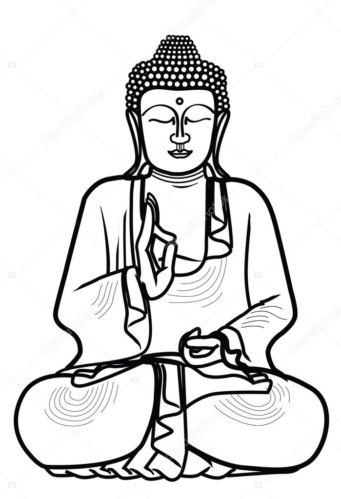 buddha illustration illustration of buddha statue stock vector 4422