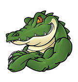 Photo Crocodile Mascot