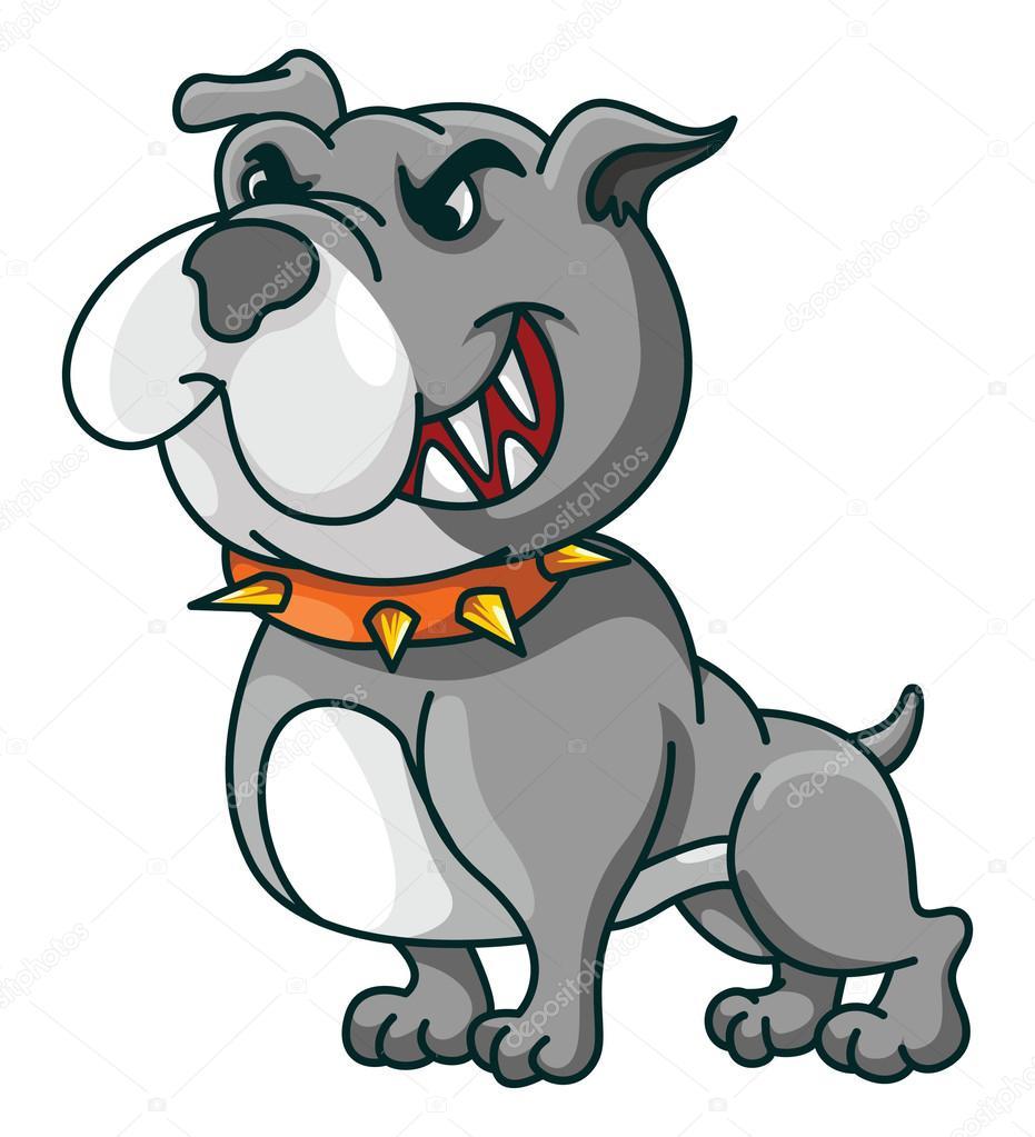 Dessin anim dr le de bouledogue image vectorielle - Bulldog dessin anime ...