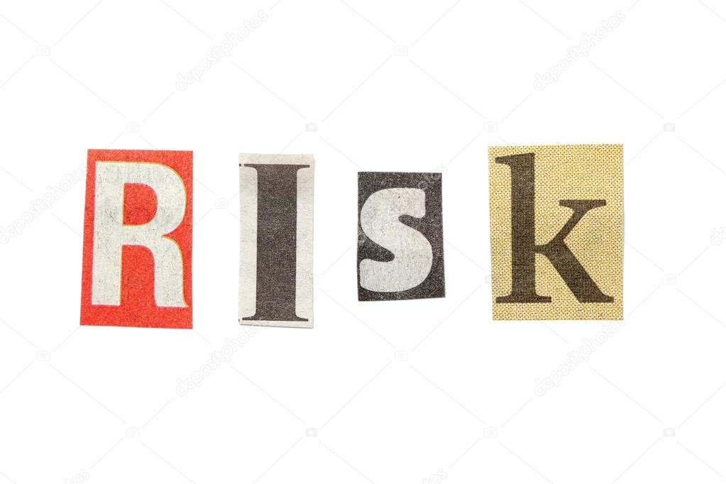 Risk cutout newspaper letters stock photo michaeljayfoto 43041957 risk cutout newspaper letters stock photo spiritdancerdesigns Gallery