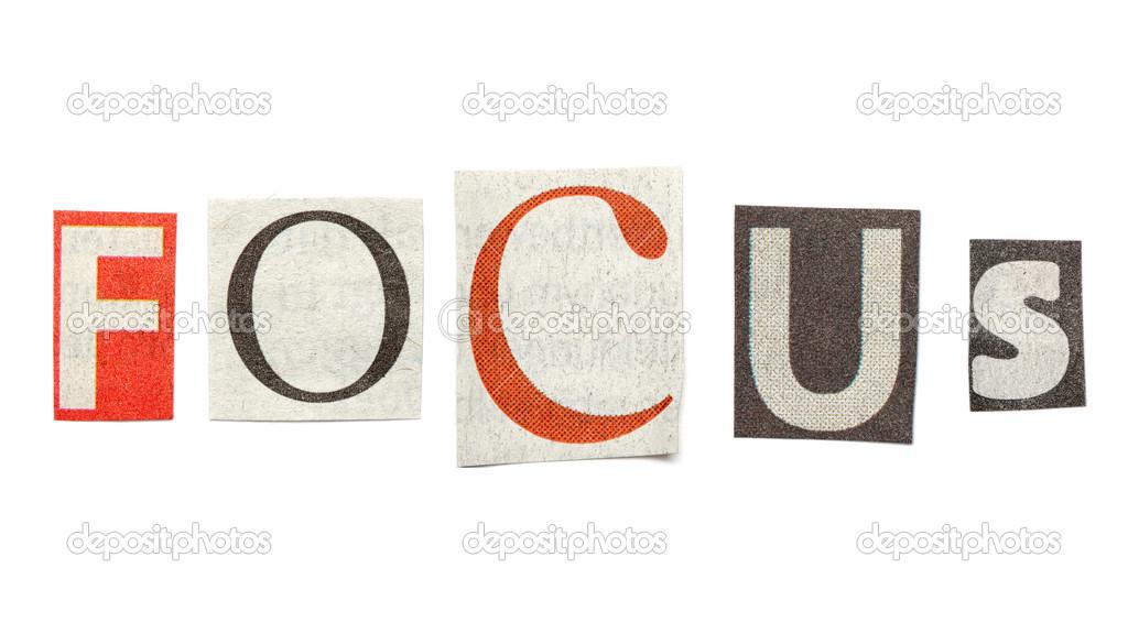 Focus cutout newspaper letters stock photo michaeljayfoto 43041961 focus cutout newspaper letters stock photo spiritdancerdesigns Gallery