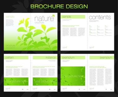 Template of brochure design