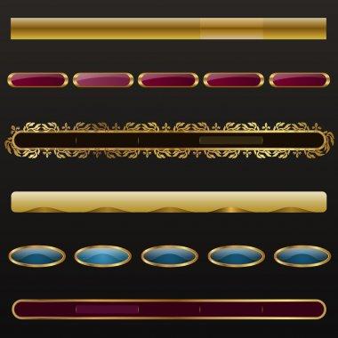 Golden menu navigation