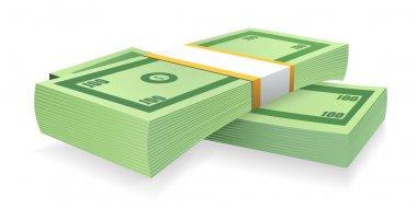 Money. Stack of bills