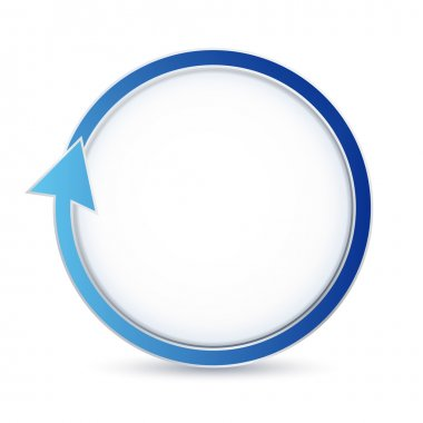 Isolated blue circular arrow