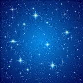Fotografie Blue Night sky with stars. Vector