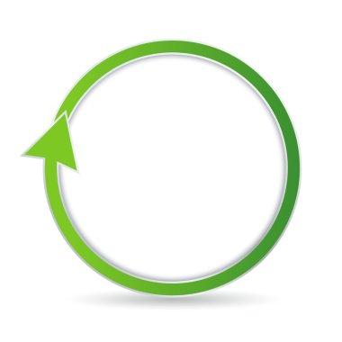Isolated green circular arrow