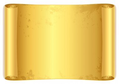 Isolated Golden scroll