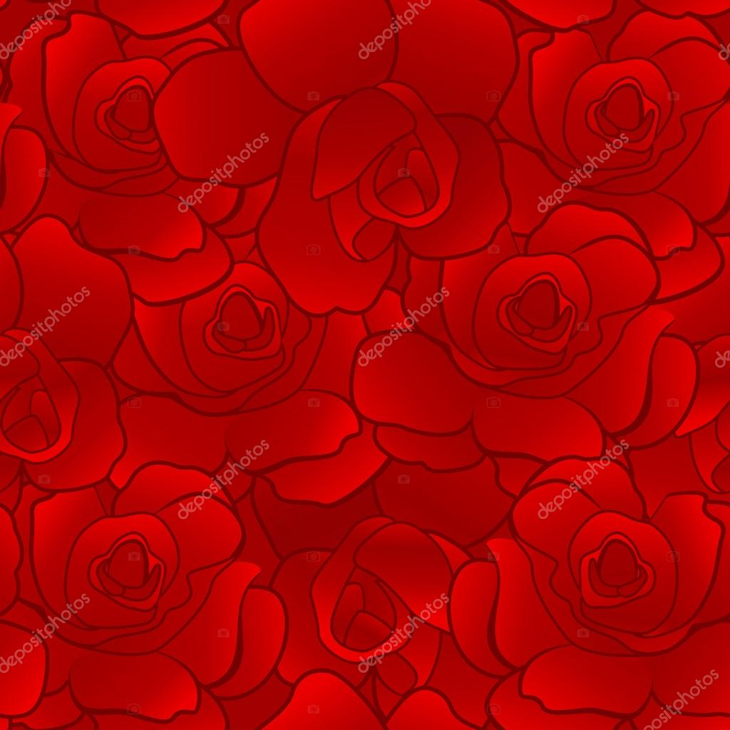 Silk Seamless Pattern Of Red Rose Wallpaper Abstract Floral Background For Gift Paper Vector Illustration By Shiny777