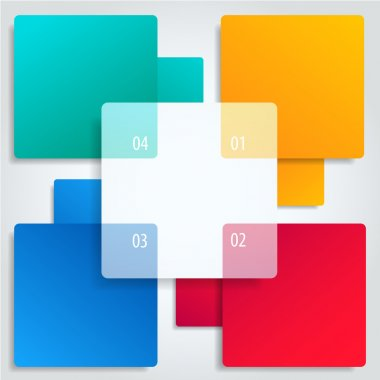 Conceptual colorful vector banners with numbersand place for info