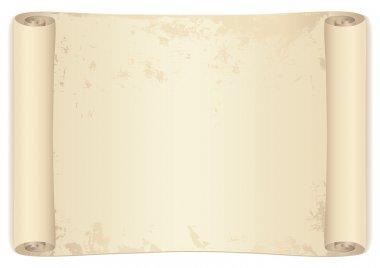 Scroll (old treasure map). Isolated vector illustration on white background