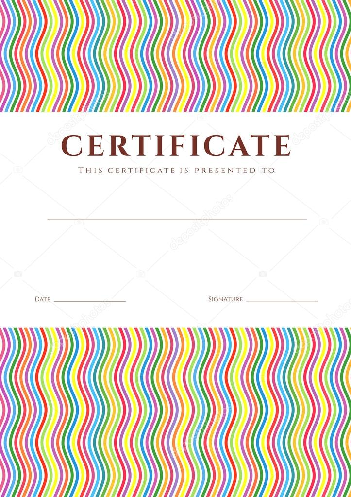 Certificate Of Completion (Template Or Sample Background) With