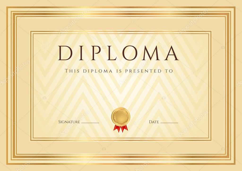 certificate diploma of completion design template background  certificate diploma of completion design template background abstract pattern gold