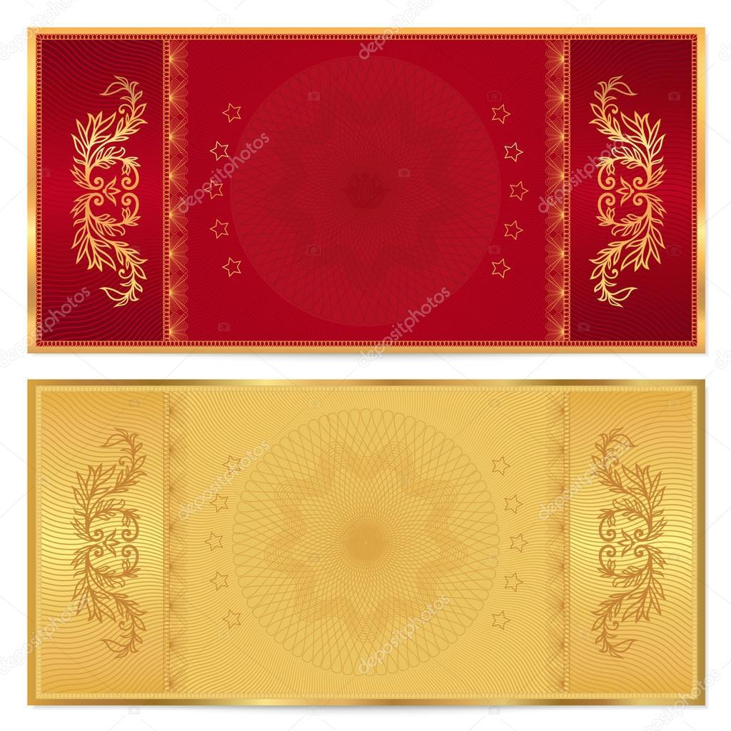 Gold-Ticket, Gutschein, Geschenkgutschein, Gutschein-Vorlage mit ...