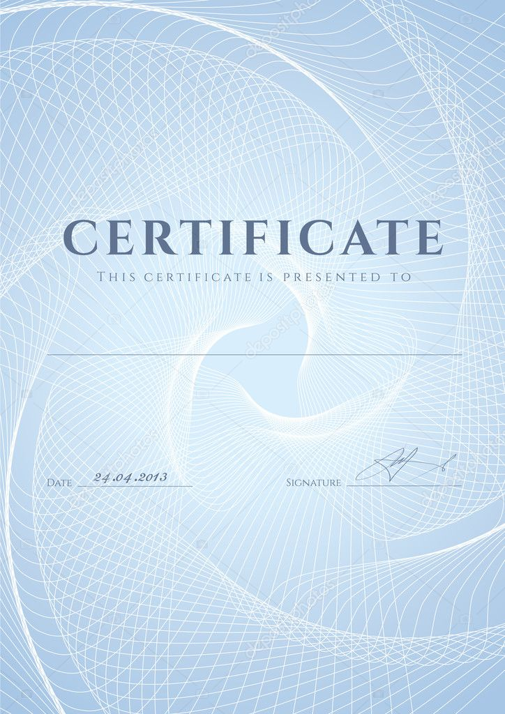 certificate diploma of completion design template background  certificate diploma of completion design template background blue guilloche pattern