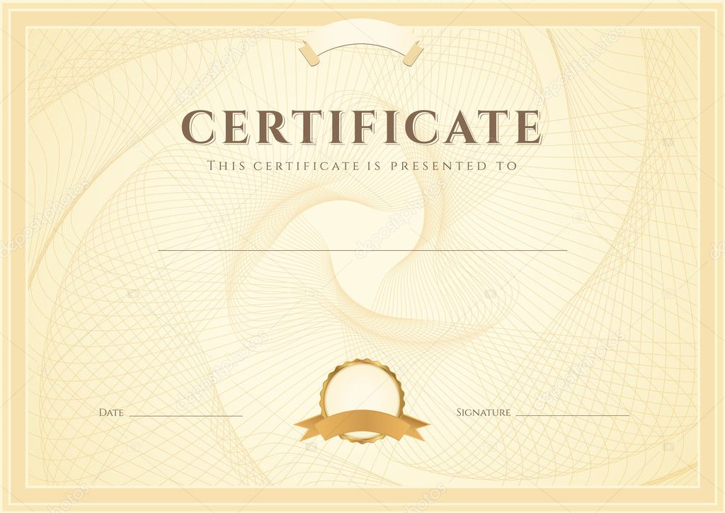 Certificate diploma of completion design template background also useful for degree certificate business education courses certificate of achievement competitions certificate of authenticity yadclub Image collections