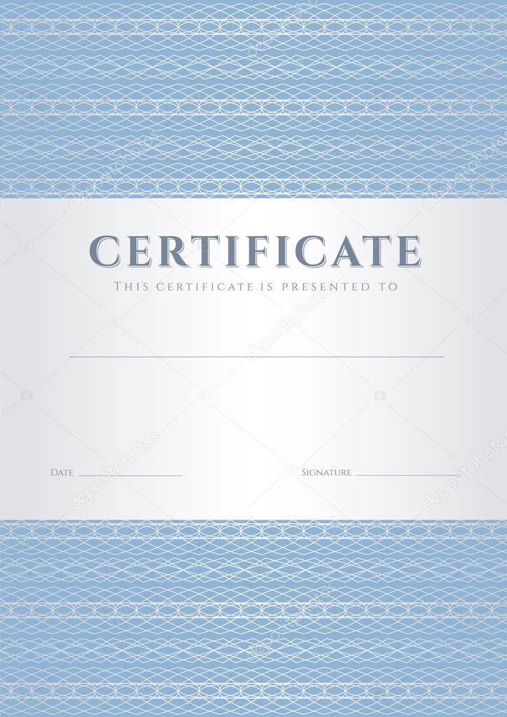 also useful for degree certificate business education courses certificate of achievement competitions certificate of authenticity - Blue Certificate Border Template