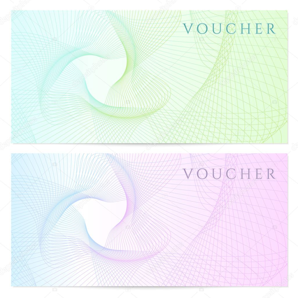 certificate Voucher Coupon template with colorful rainbow – Check Voucher Template