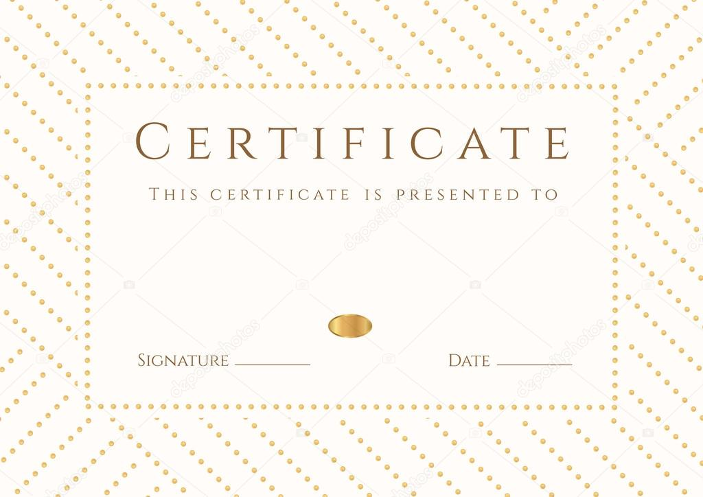 Certificate diploma of completion template background gold also useful for degree certificate business education courses certificate of achievement competitions certificate of authenticity graduation yelopaper Choice Image