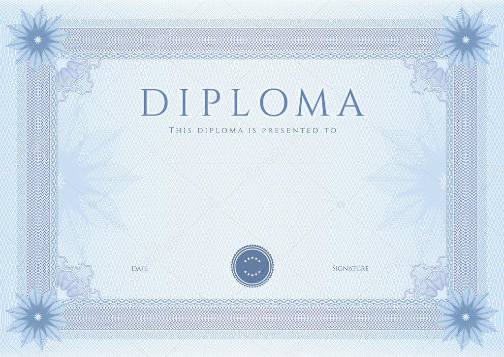 certificado, diploma de terminación (plantilla de diseño ...