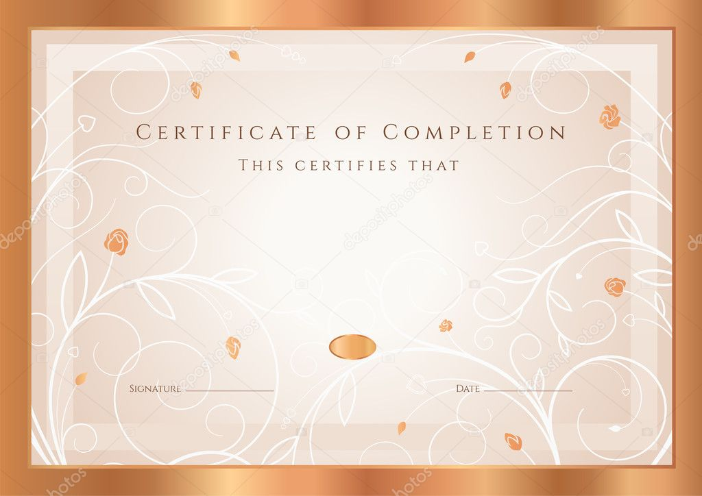 certificate of completion diploma design template background