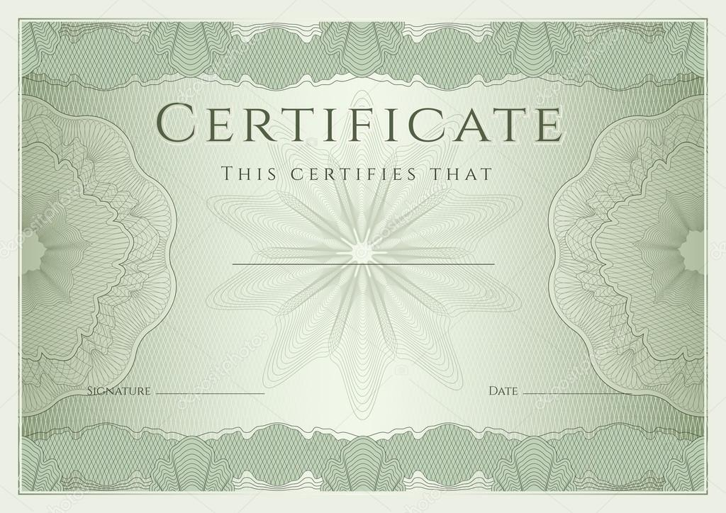 Certificate, Diploma Of Completion (Design Template, Background