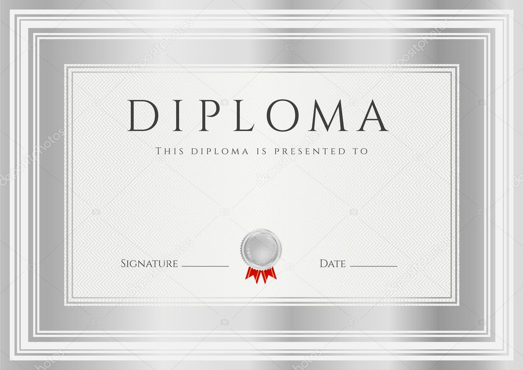 Diploma certificate of completion design template background also useful for degree certificate business education courses certificate of achievement competitions certificate of authenticity yelopaper Gallery