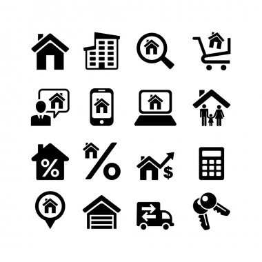 Set 16 web icons. Real Estate