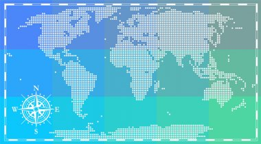 World map for infographics