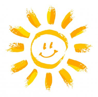 Smiling cartoon sun stock vector