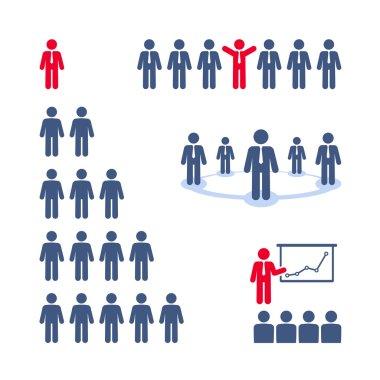 Business people. Team, presentation, business tree network