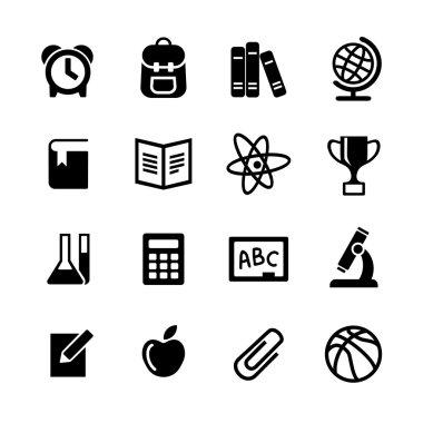 Back to school. Web icons set. Education