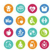 sada - 16 zdraví a fitness ikony