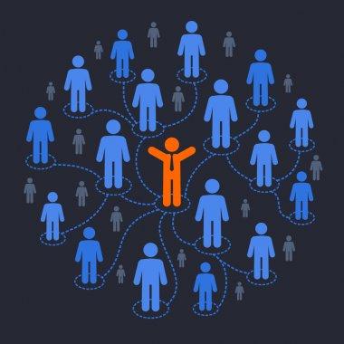 Social media marketing stock vector