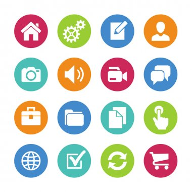 Main icons for website. Icons set