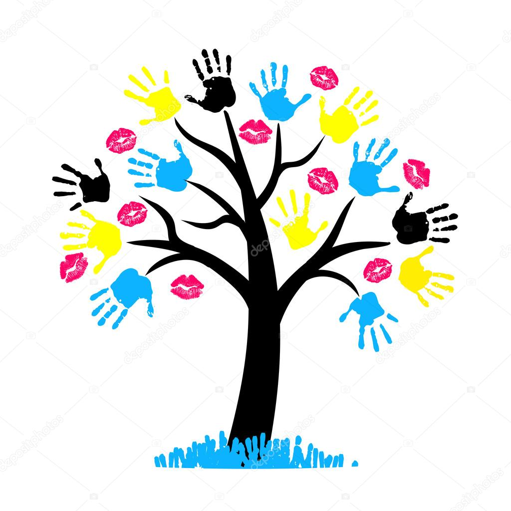 cmyk color for printing tree with hang print and