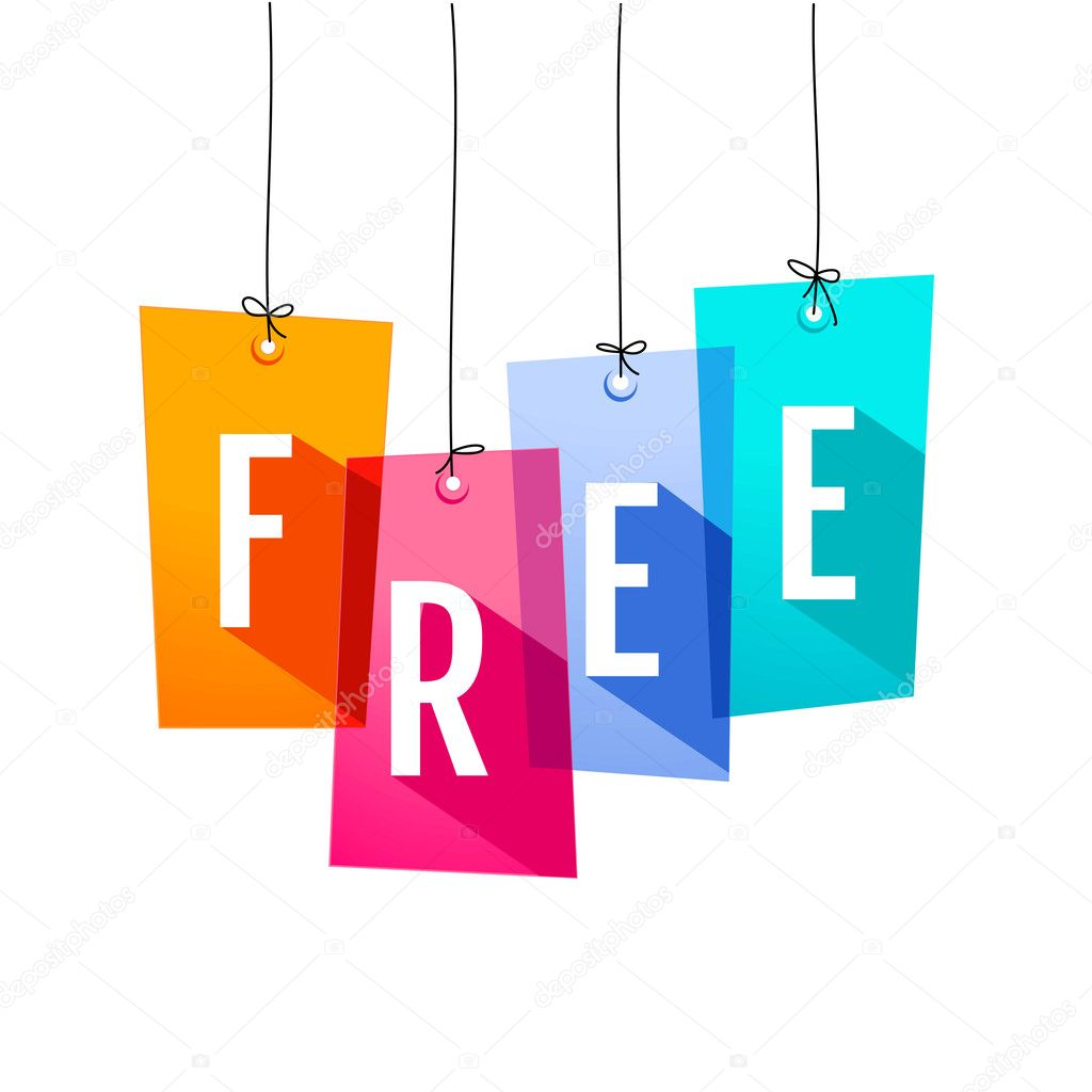 Colorful price labels. Free