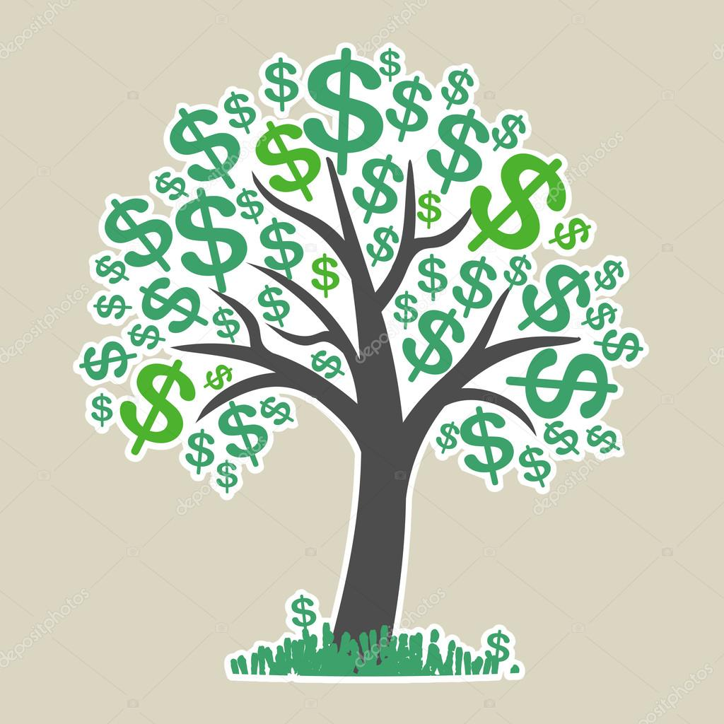 Vector money tree - symbol of successful business