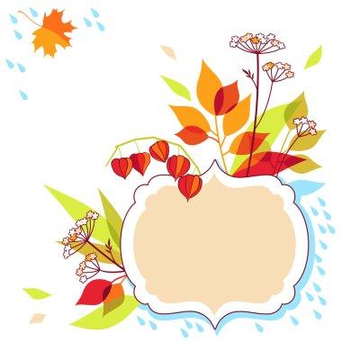 Autumn vector frame design