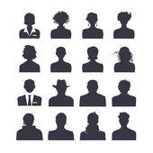 sada ikon webových lidé avatarů