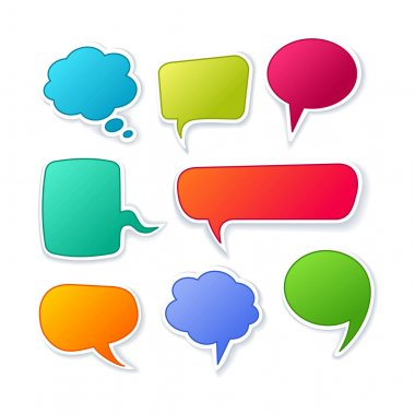 Vector speech bubble for dialogue. Collection