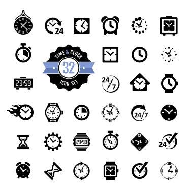 Web icon set - time, alarm, clock