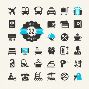 Hotel web icon set