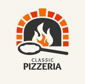 Fotografia logotipo di pizzeria classica