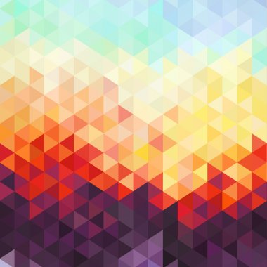 Abstract geometric background - colorful origami