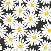 Fotografie Seamless daisies vector pattern