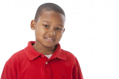 African american smiling little boy with a smile