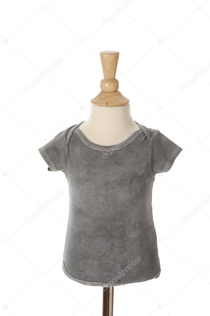 A neutral gray tie dye t-shirt for baby on a mannequin — Stock Photo ...