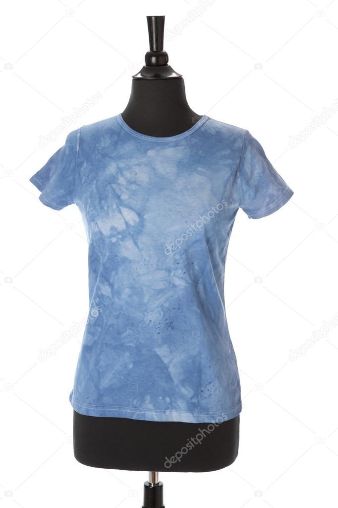 eine helle blaue Krawatte färben T-shirt für Frauen oder Mädchen auf ...